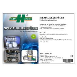 Spezial Klarspüler für Geschirrspülmaschinen Hera Chemie