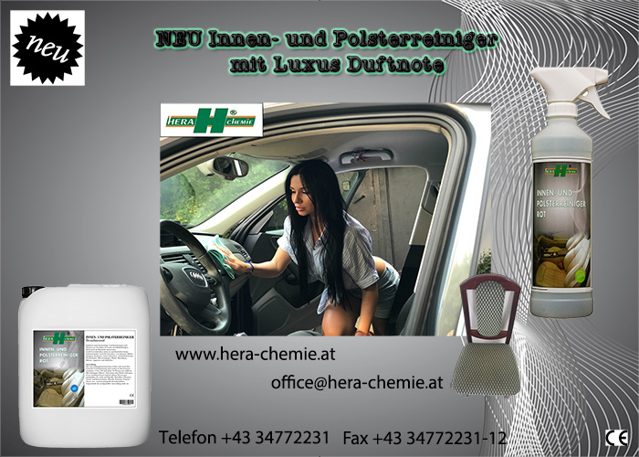 Hera Chemie Special indoor Cleander – also for Car seat covers